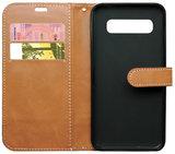 ADEL Kunstleren Book Case Portemonnee Pasjes Hoesje voor Samsung Galaxy S10 - Stoffen Design Grijs_