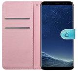 ADEL Kunstleren Book Case Pasjes Portemonnee Hoesje voor Samsung Galaxy S10 - Vlinder Blauw_