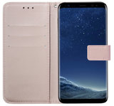 ADEL Kunstleren Book Case Pasjes Portemonnee Hoesje voor Samsung Galaxy S10 - Goud Rose_