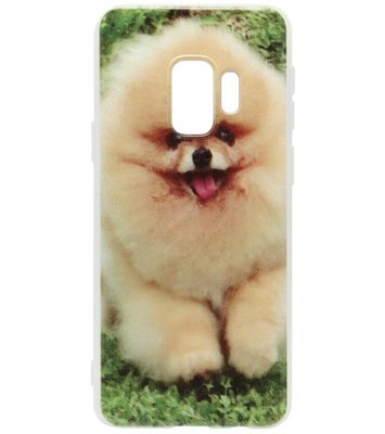 ADEL Siliconen Back Cover Softcase Hoesje voor Samsung Galaxy S9 Plus - Dwergkees Pomeriaan Hond