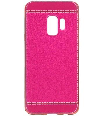 ADEL Kunstleren Back Cover Hoesje voor Samsung Galaxy S9 Plus - Roze