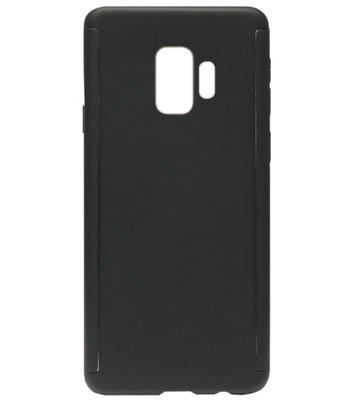 ADEL Kunststof Back Cover Hardcase Hoesje met Screenprotector voor Samsung Galaxy S9 Plus - Zwart