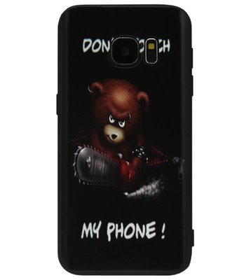 ADEL Siliconen Back Cover Softcase Hoesje voor Samsung Galaxy S6 Edge - Don't Touch My Phone Beer