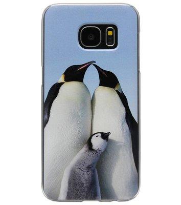 ADEL Kunststof Back Cover Hardcase Hoesje voor Samsung Galaxy S6 Edge - Pinguin