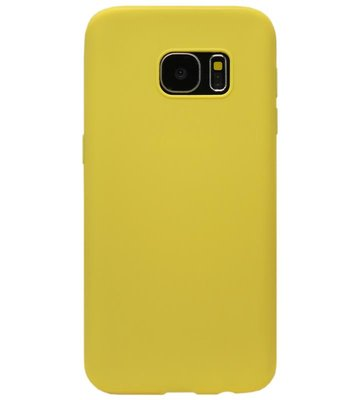 ADEL Siliconen Back Cover Softcase Hoesje voor Samsung Galaxy S6 Edge - Geel