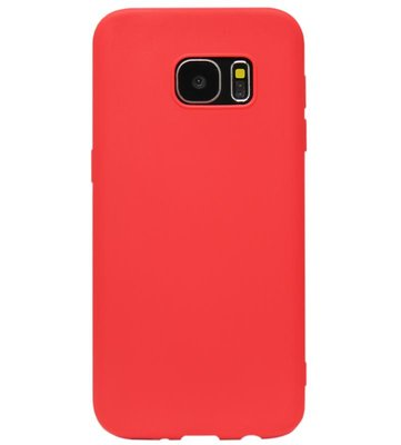 ADEL Siliconen Back Cover Softcase Hoesje voor Samsung Galaxy S6 Edge - Rood