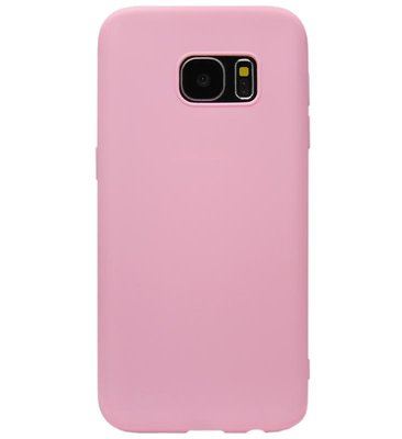 ADEL Siliconen Back Cover Softcase Hoesje voor Samsung Galaxy S7 Edge - Roze