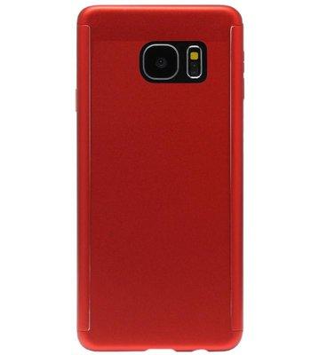 ADEL Kunststof Back Cover Hoesje met Screenprotector voor Samsung Galaxy S6 Edge - Rood