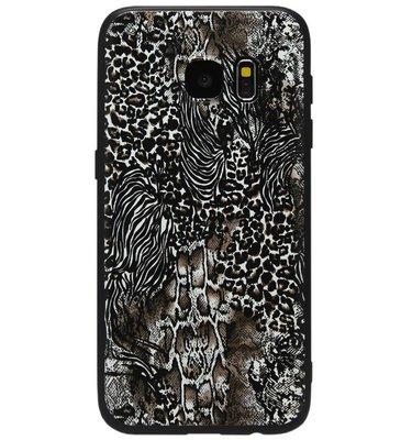 ADEL Siliconen Back Cover Softcase Hoesje voor Samsung Galaxy S6 Edge - Luipaard