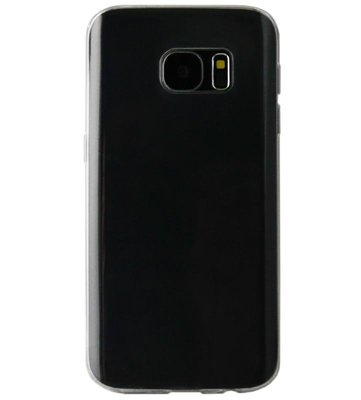 ADEL Smal Siliconen Back Cover Softcase Hoesje voor Samsung Galaxy S6 Edge - Doorzichtig Transparant