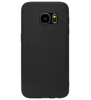 ADEL Siliconen Back Cover Softcase Hoesje voor Samsung Galaxy S6 Edge - Zwart