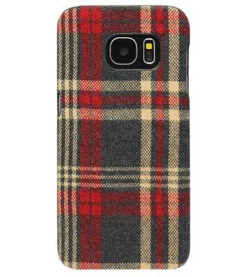 ADEL Kunststof Back Cover Hardcase Hoesje voor Samsung Galaxy S6 Edge - Stoffen Design Traditioneel