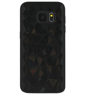 ADEL Siliconen Back Cover Softcase Hoesje voor Samsung Galaxy S7 Edge - Diamanten Zwart