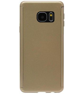 ADEL Kunststof Back Cover Hoesje met Screenprotector voor Samsung Galaxy S7 Edge - Goud