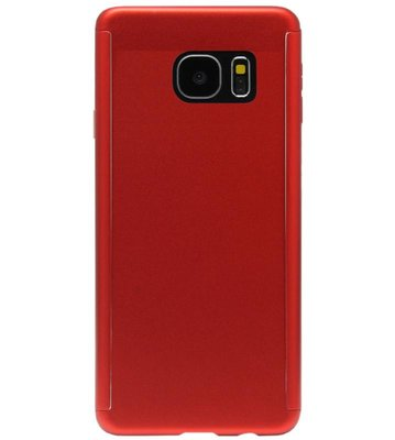 ADEL Kunststof Back Cover Hoesje met Screenprotector voor Samsung Galaxy S7 Edge - Rood