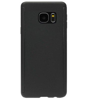 ADEL Kunststof Back Cover Hoesje met Screenprotector voor Samsung Galaxy S7 Edge - Zwart