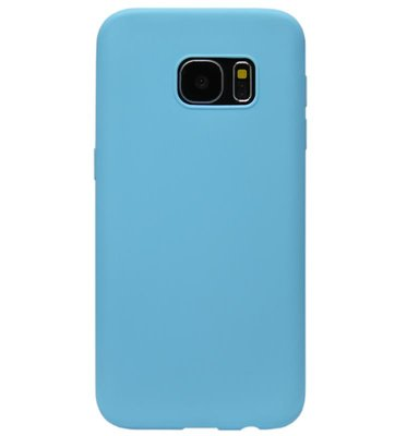 ADEL Siliconen Back Cover Softcase Hoesje voor Samsung Galaxy S7 Edge - Blauw