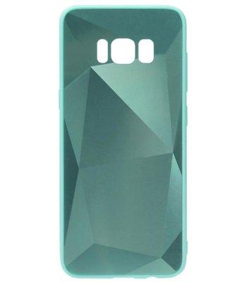 ADEL Siliconen Back Cover Softcase Hoesje voor Samsung Galaxy S8 Plus - Spiegel Diamanten Groen