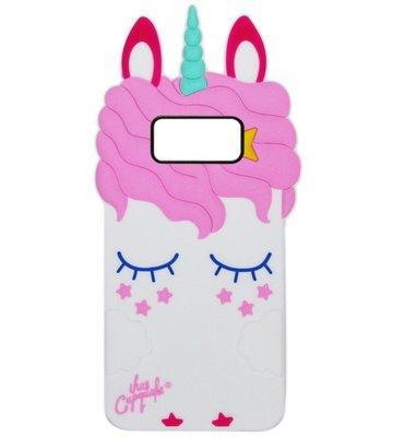ADEL Siliconen Back Cover Softcase Hoesje voor Samsung Galaxy S8 Plus - Eenhoorn Wit