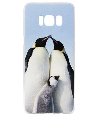 ADEL Kunststof Back Cover Hardcase Hoesje voor Samsung Galaxy S8 Plus - Pinguin