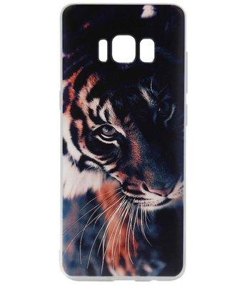 ADEL Siliconen Back Cover Softcase Hoesje voor Samsung Galaxy S8 Plus - Tijger
