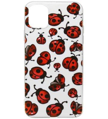 ADEL Siliconen Back Cover Softcase hoesje voor iPhone 11 Pro - Lieveheersbeestjes Klein