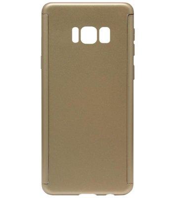 ADEL Kunststof Back Cover Hardcase Hoesje met Screenprotector voor Samsung Galaxy S8 Plus - Goud
