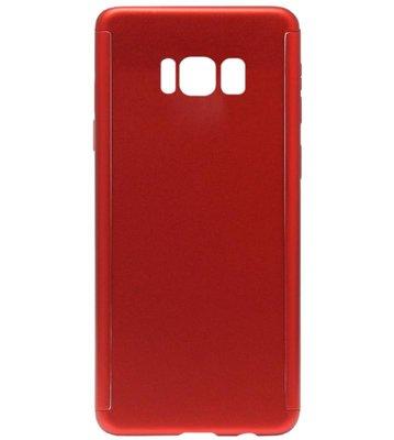 ADEL Kunststof Back Cover Hardcase Hoesje met Screenprotector voor Samsung Galaxy S8 Plus - Rood