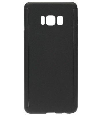 ADEL Kunststof Back Cover Hardcase Hoesje met Screenprotector voor Samsung Galaxy S8 Plus - Zwart