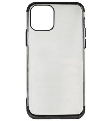 ADEL Siliconen Back Cover Softcase hoesje voor iPhone 11 - Bling Bling Zwart