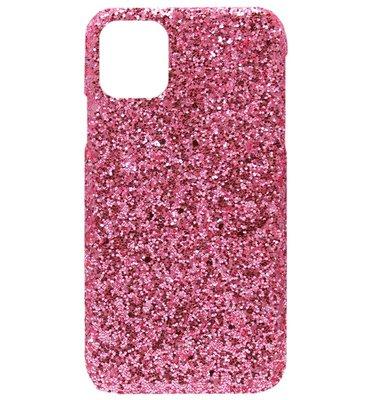 ADEL Kunststof Back Cover Hardcase hoesje voor iPhone 11 Pro - Bling Bling Roze