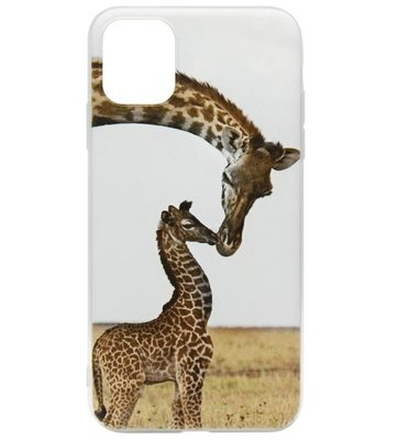 ADEL Siliconen Back Cover Softcase hoesje voor iPhone 11 Pro - Giraf