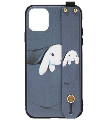 ADEL Siliconen Back Cover Softcase hoesje voor iPhone 11 Pro Max - Konijn