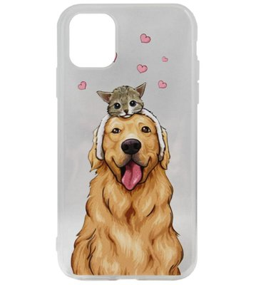 ADEL Siliconen Back Cover Softcase hoesje voor iPhone 11 Pro Max - Labrador Hond