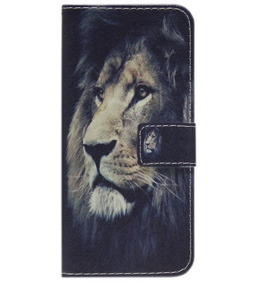 ADEL Kunstleren Book Case Hoesje voor Samsung Galaxy S8 Plus - Leeuw