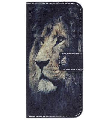 ADEL Kunstleren Book Case Hoesje voor Samsung Galaxy S9 Plus - Leeuw