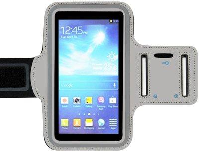 ADEL Sportarmband 4.7 Inch Microfiber Hoesje voor iPhone 4(S) - Grijs