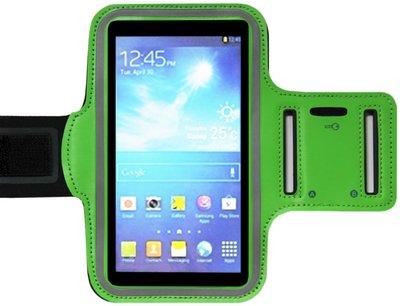 ADEL Sportarmband 4.7 Inch Microfiber Hoesje voor iPhone 4(S) - Groen