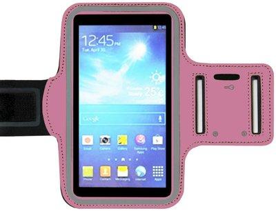 ADEL Sportarmband 4.7 Inch Microfiber Hoesje voor iPhone 4(S) - Roze