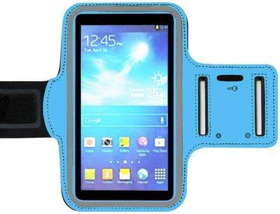ADEL Sportarmband 4.7 Inch Microfiber Hoesje voor iPhone 5(S) - Blauw