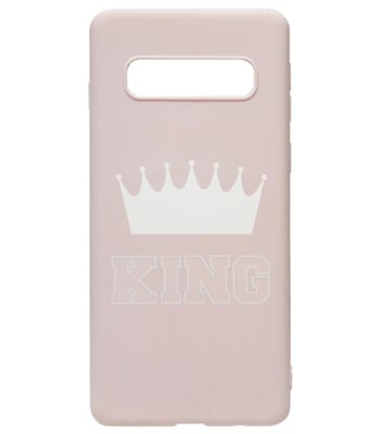 ADEL Siliconen Back Cover Softcase Hoesje voor Samsung Galaxy S10 - King Roze