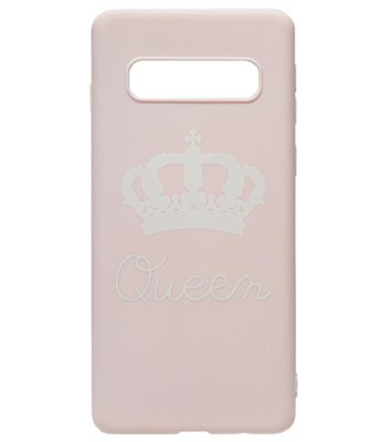 ADEL Siliconen Back Cover Softcase Hoesje voor Samsung Galaxy S10e - Queen Roze