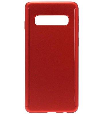 ADEL Kunststof Back Cover Hoesje met Screenprotector voor Samsung Galaxy S10e - Rood