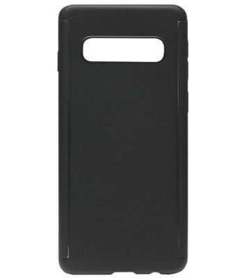 ADEL Kunststof Back Cover Hoesje met Screenprotector voor Samsung Galaxy S10e - Zwart
