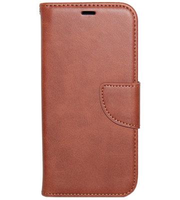 ADEL Kunstleren Book Case hoesje voor iPhone 11 - Bruin