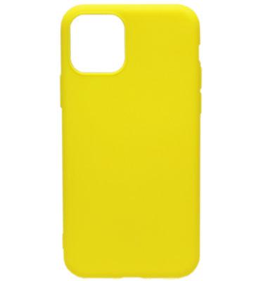 ADEL Siliconen Back Cover hoesje voor iPhone 11 - Geel