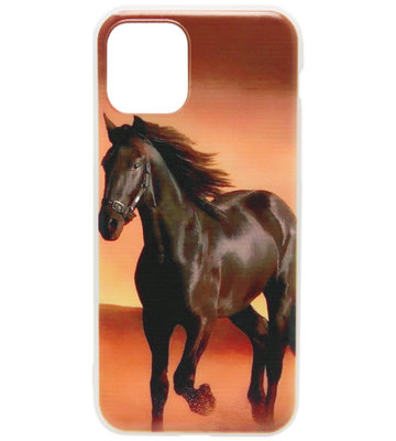 ADEL Siliconen Back Cover hoesje voor iPhone 11 Pro Max - Paard