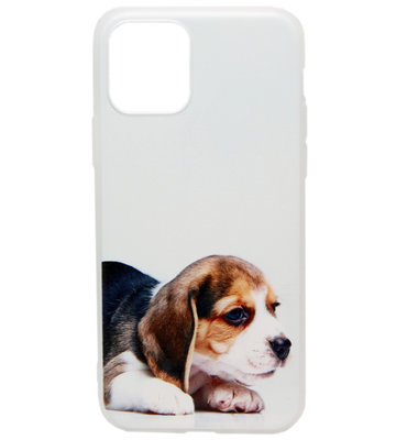 ADEL Siliconen Back Cover hoesje voor iPhone 11 Pro Max - Lieve Hond