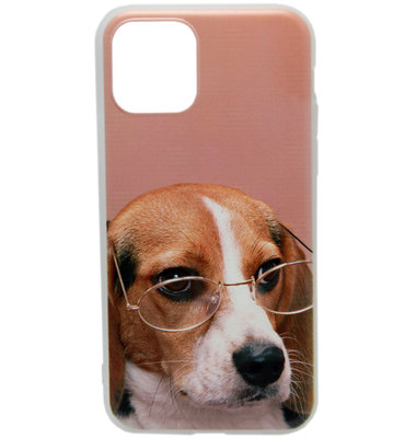 ADEL Siliconen Back Cover hoesje voor iPhone 11 Pro Max - Ondeugende Hond