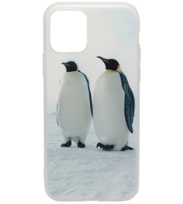ADEL Siliconen Back Cover hoesje voor iPhone 11 Pro Max - Pinguins
